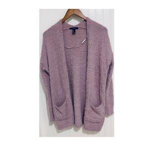 Forever 21 lavender eyelash cardigan Sweater M